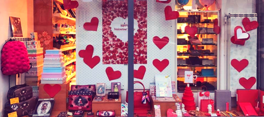 Valentine's de vitrină