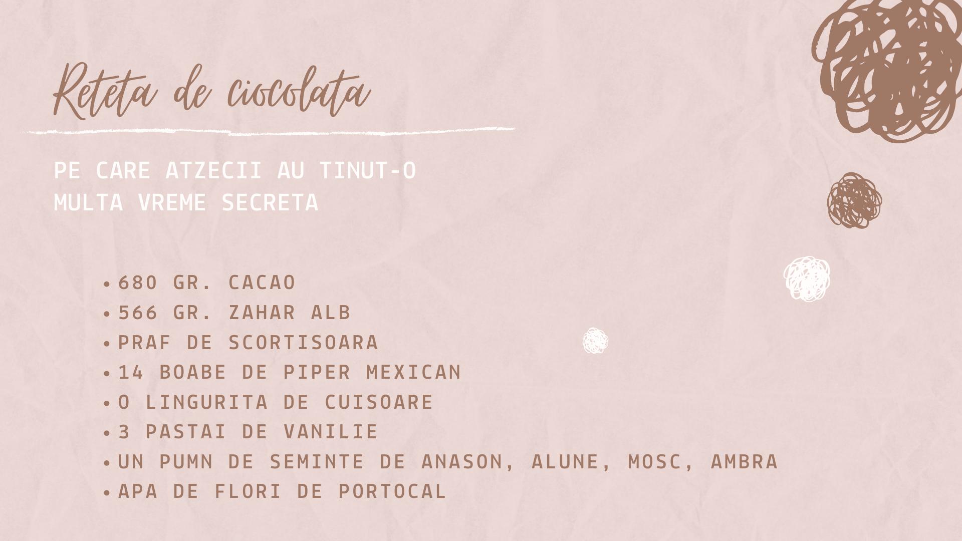 Rețetă de ciocolată